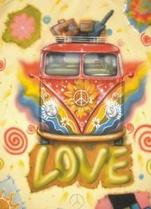 VW Love bus