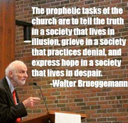 Brueggemann Prophetic task of the church